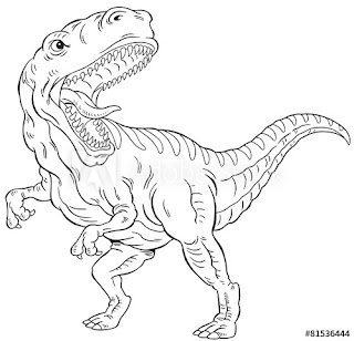 T-Rex Tyrannosaurus Coloring Pages