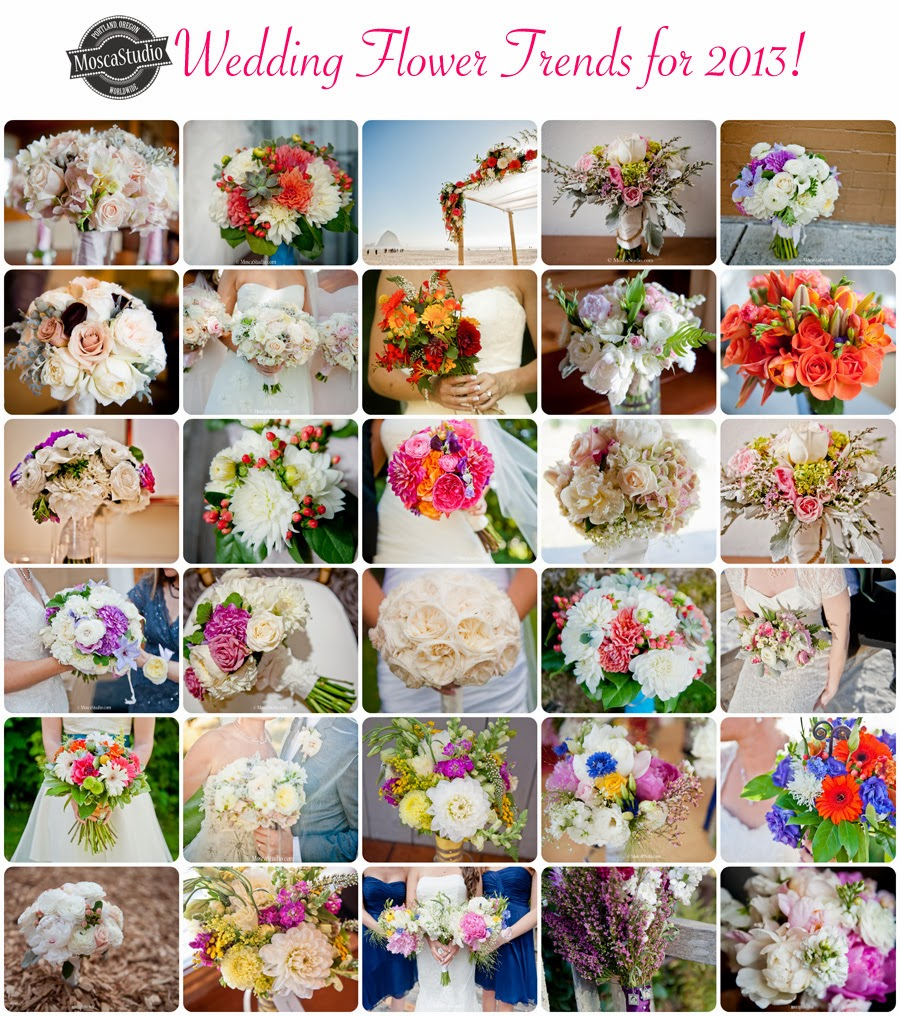 Wedding Flower Trends of teh 2013 Wedding Season, Portland Oregon, http://MoscaStudio.com