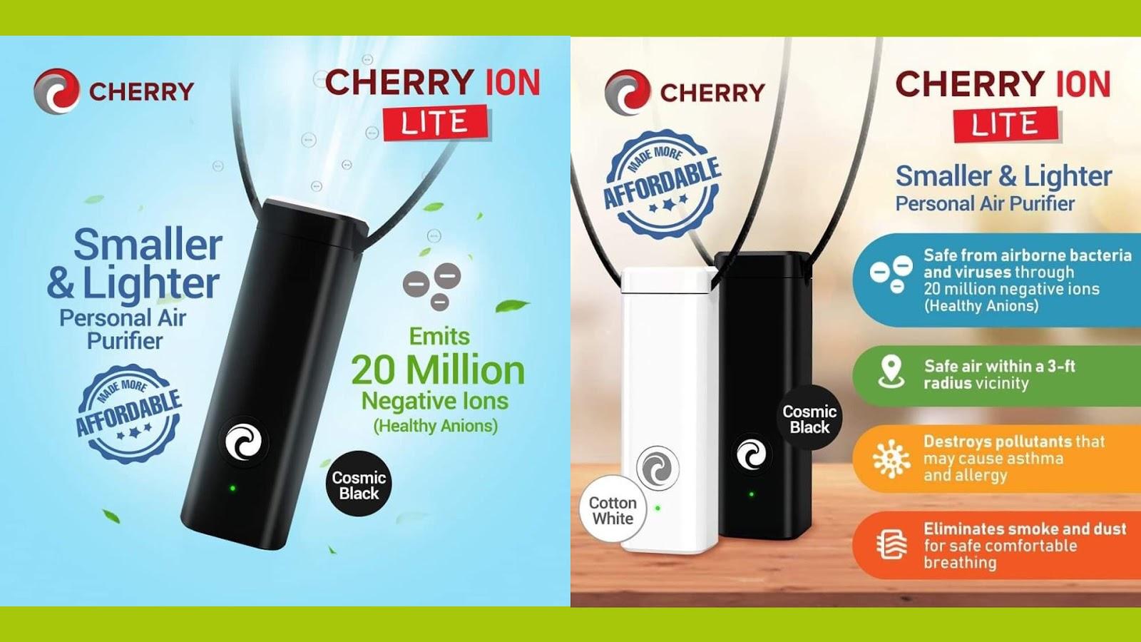 Cherry Ion Lite Ionizer Air Purifier