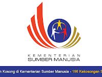 Jawatan Kosong di Kementerian Sumber Manusia KSM - 196 Kekosongan Seluruh Negara