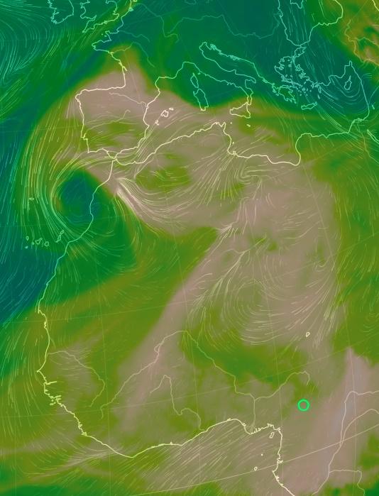 Una DANA en España con calima y nieve, 17  marzo 2020