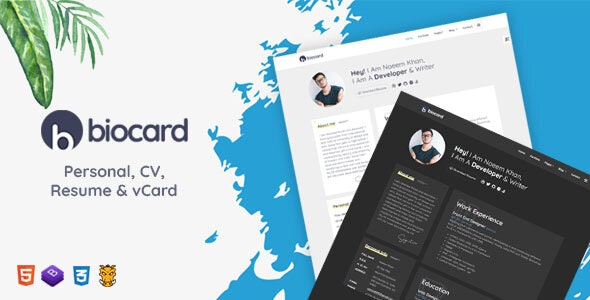 Personal / CV / Resume & vCard Template