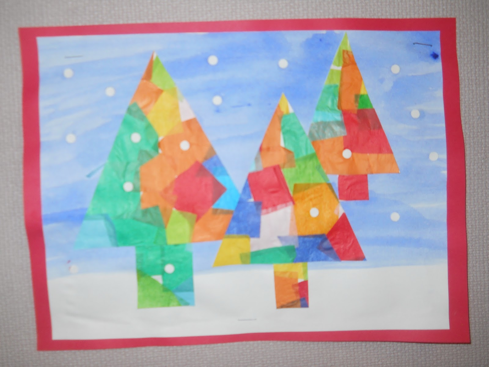 Mrs T S First Grade Class Christmas Tree Symmetry