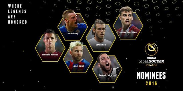Definidos os finalistas do Globe Soccer Awards