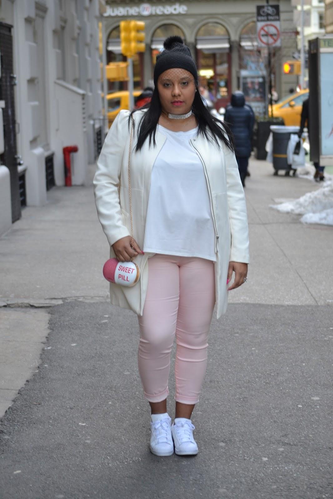 Vibrant, pink, white