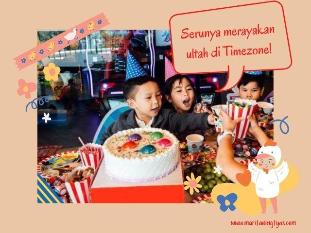 pesta ulang tahun anak di timezone denpasar