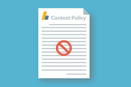 Cara Mengatasi Penolakan Adsense : Melanggar Kebijakan konten