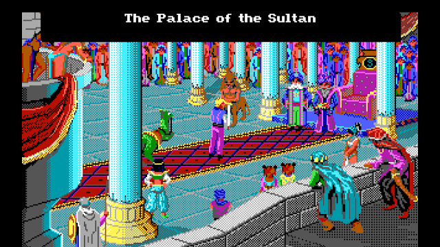 Screenshot of Sultan's Palace in Quest for Glory II