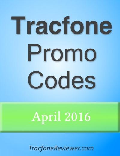 Tracfone Promo Codes for April 2016