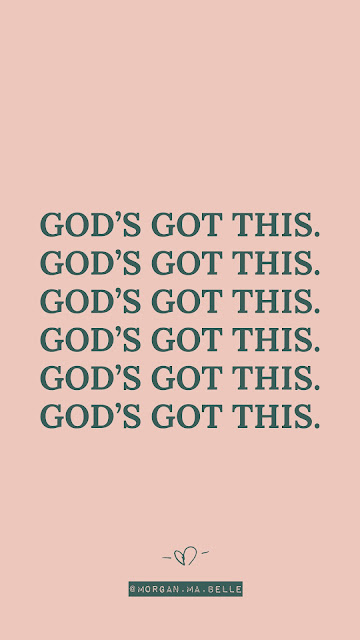 "phone background that repeats ""God's Got This."" by Morgan ma Belle"