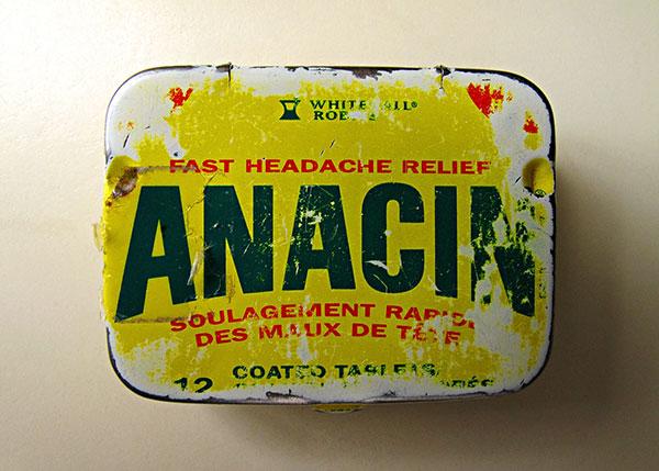 Anacin, aspirina, dolor de cabeza