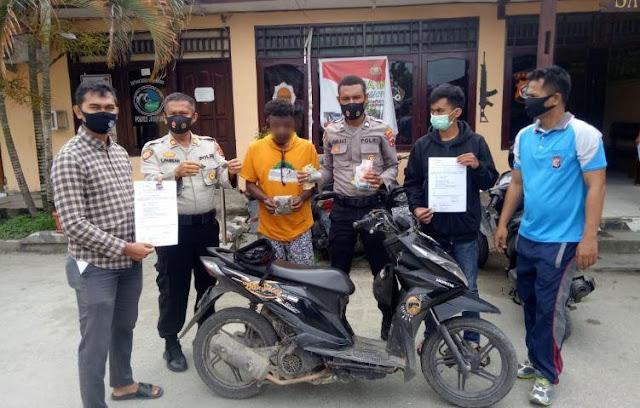 1 Motor Curian dan Pengedar Ganja Diamankan Polres Jayapura