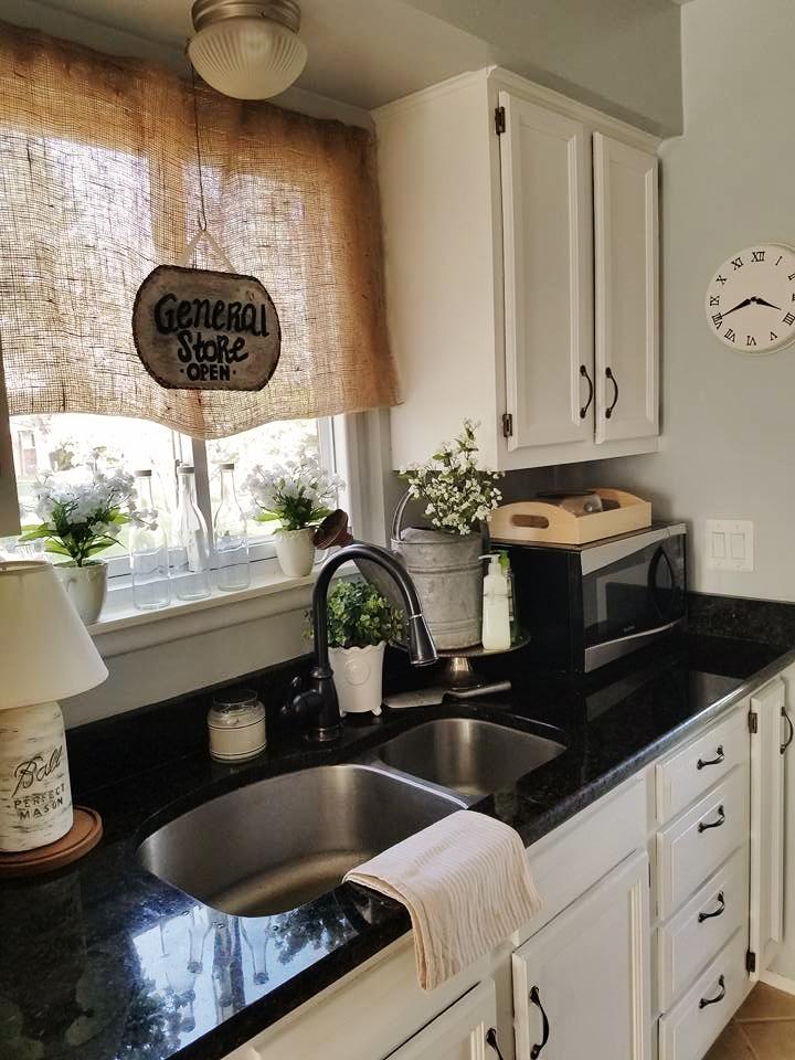 The Quaint Sanctuary: { Farmhouse & Kitchen Counter Decor ... on Farmhouse Countertops  id=45244