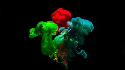 Colorful wallpaper ink, Abstract, water