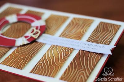 z papieru koło ratunkowe papierowe deseczki drewno z papieru wycinanka muszelki