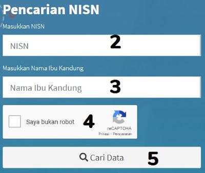 Aplikasi Cetak Kartu NISN Online