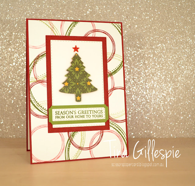 scissorspapercard, Stampin' Up!, Art With Heart, Heart Of Christmas, Christmas, Swirly Frames, Merry Christmas To All Bundle, Pine Tree Punch, Night Before Christmas DSP