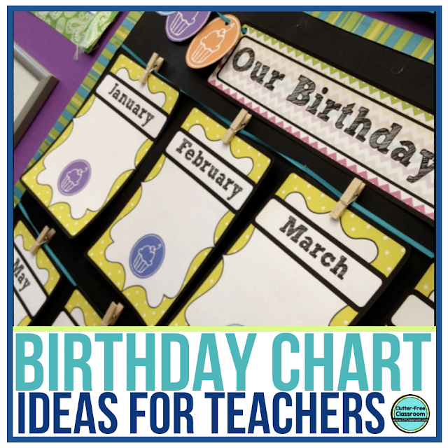 Clroom Birthday Chart Display And Celebration Ideas Clutter Free