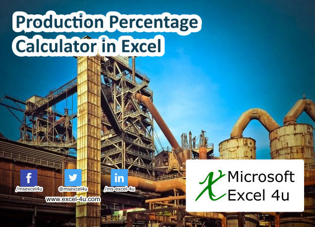 Production Percentage Calculator in Excel