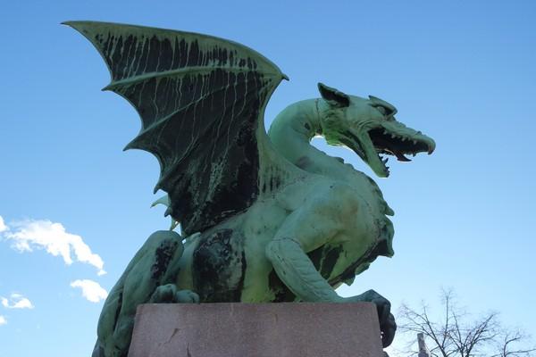 ljubljana ljubljanica pont dragons