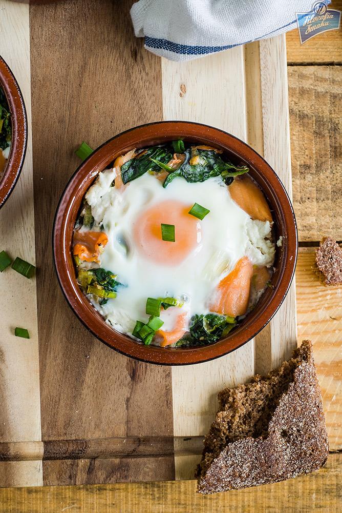 Jajka z łososiem przepisy