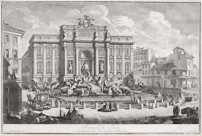 Vecchia incisione Fontana di Trevi
