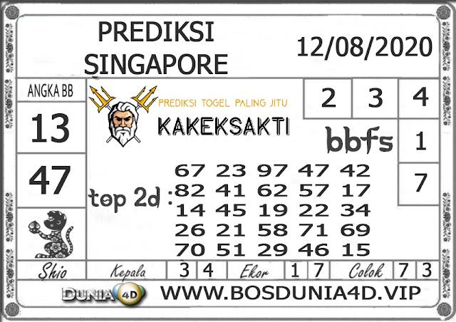 Prediksi Togel SINGAPORE DUNIA4D 12 AGUSTUS 2020