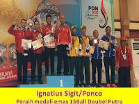 Peraih Medali Emas Cabang Billiard  Ignatius Sigit, Ponco Klinton, Ryan Setiawan dan Jimmy