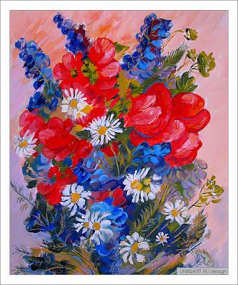 купить картину у художника, купить картину с цветами