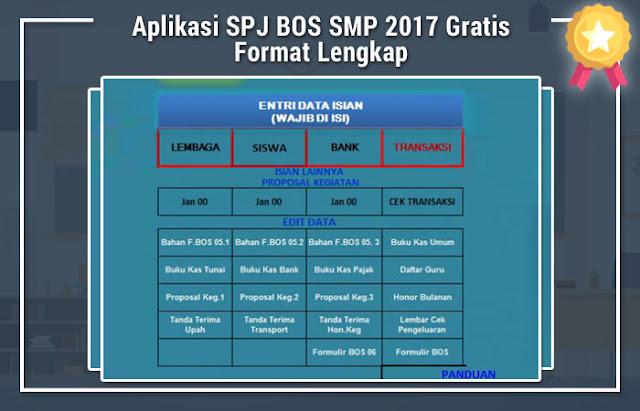 Aplikasi SPJ BOS SMP 2017 Gratis Format Lengkap