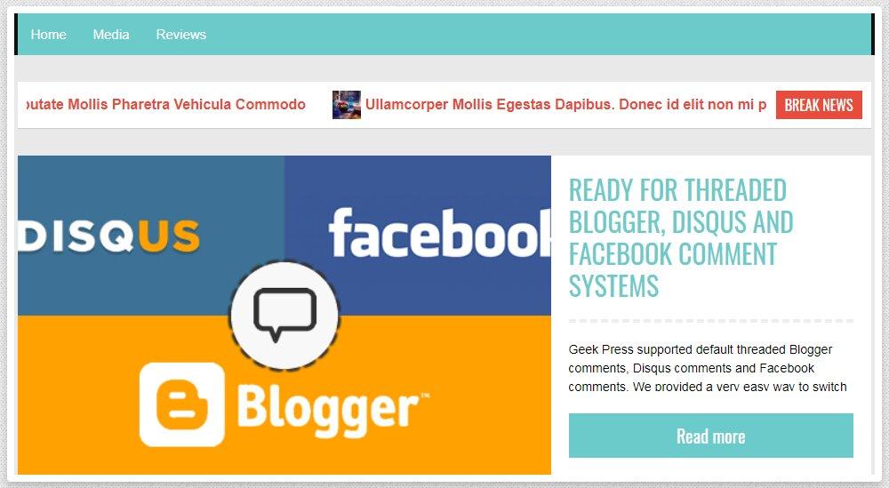 Geek Press Blogger Template