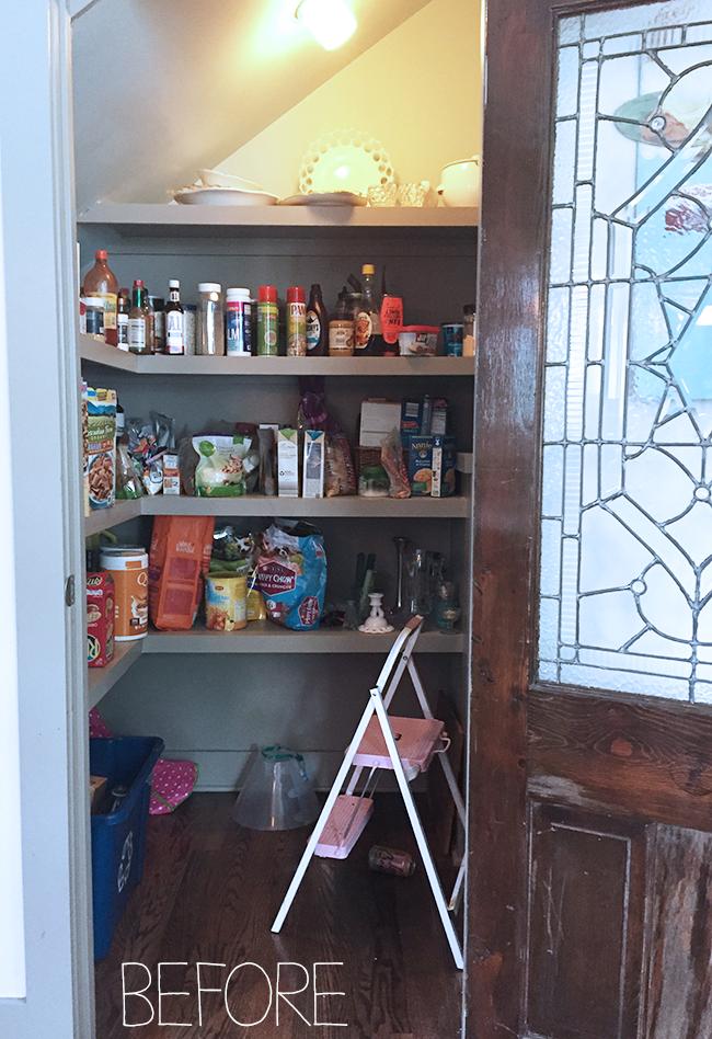 Old door on pantry