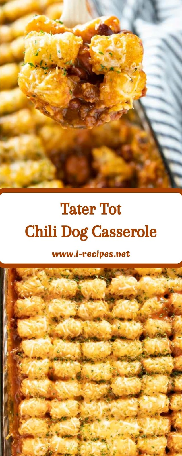 Tater Tot Chili Dog Casserole