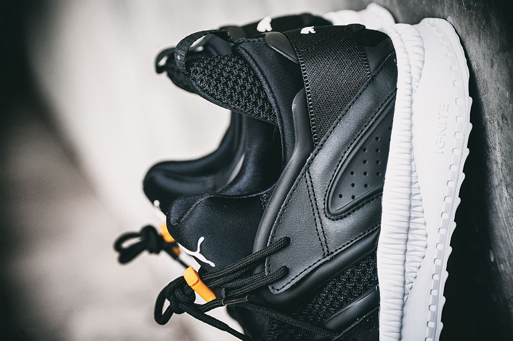 Puma TSUGI Blaze Black Sneakers by Tom Cunningham