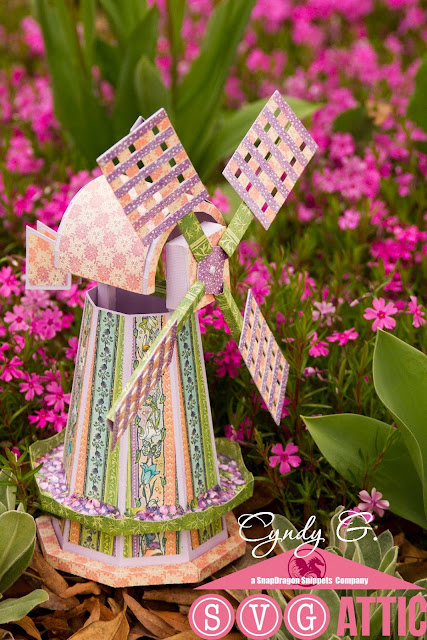 3D paper windmill