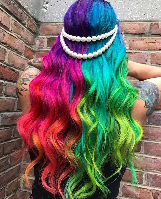 ▶ Colores extravagantes para cabello LARGO PARTE 1 - BY : QUEEN 11:11