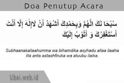 doa penutup acara