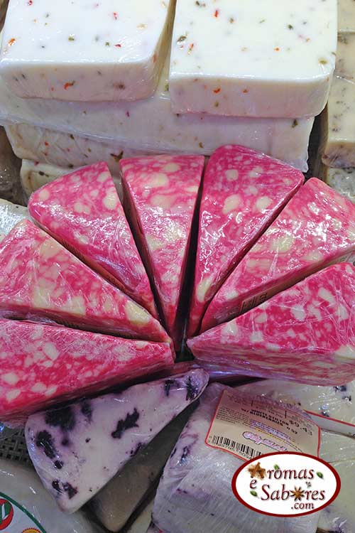 Queijo rosa com cranberry