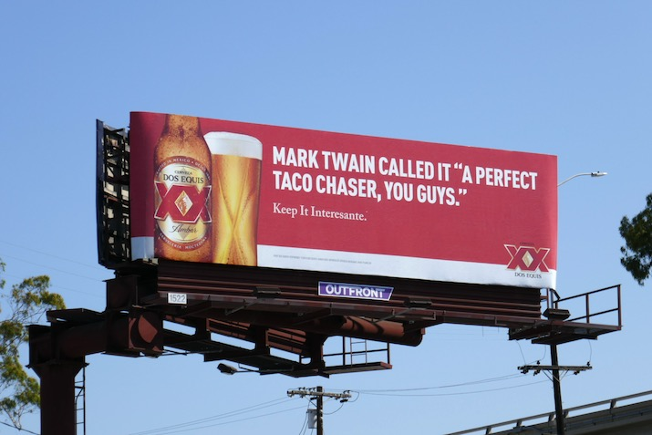 taco chaser Dos Equis billboard