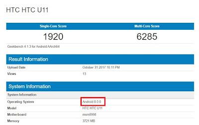 Aggiornamento HTC U11 Plus: Oreo per HTC U11