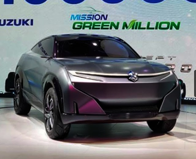Maruti suzuku showcase Feture-e in 2020 auto expo.