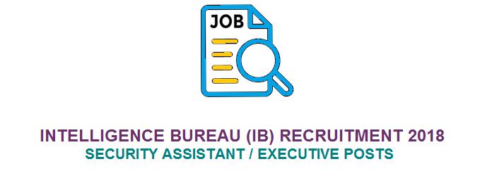 आईबी Intelligence Bureau (IB) Security Assistant 1054 Posts Recruitment 2018 @mha.gov.in