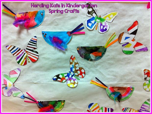Herding Kats In Kindergarten Spring Crafts Bulletin Board