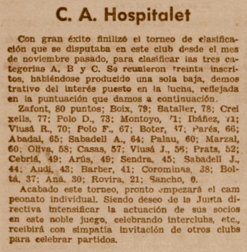 Recorte de El Diluvio, 29/3/1936