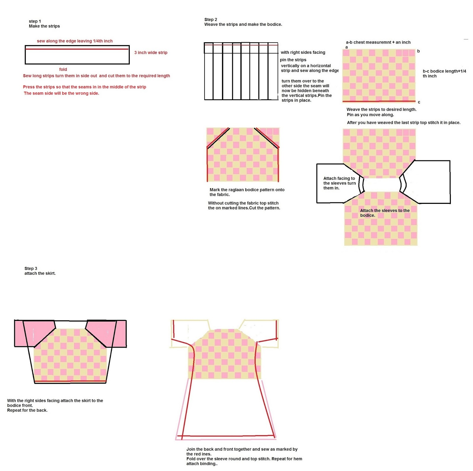 sewing weaved bodice