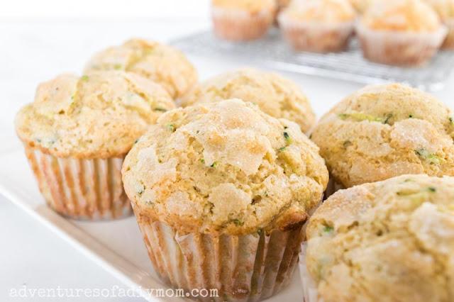 zucchini muffins on a platter