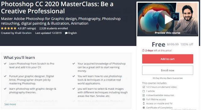 [100% Off] Photoshop CC 2020 MasterClass: Be a Creative Professional| Worth 199,99$