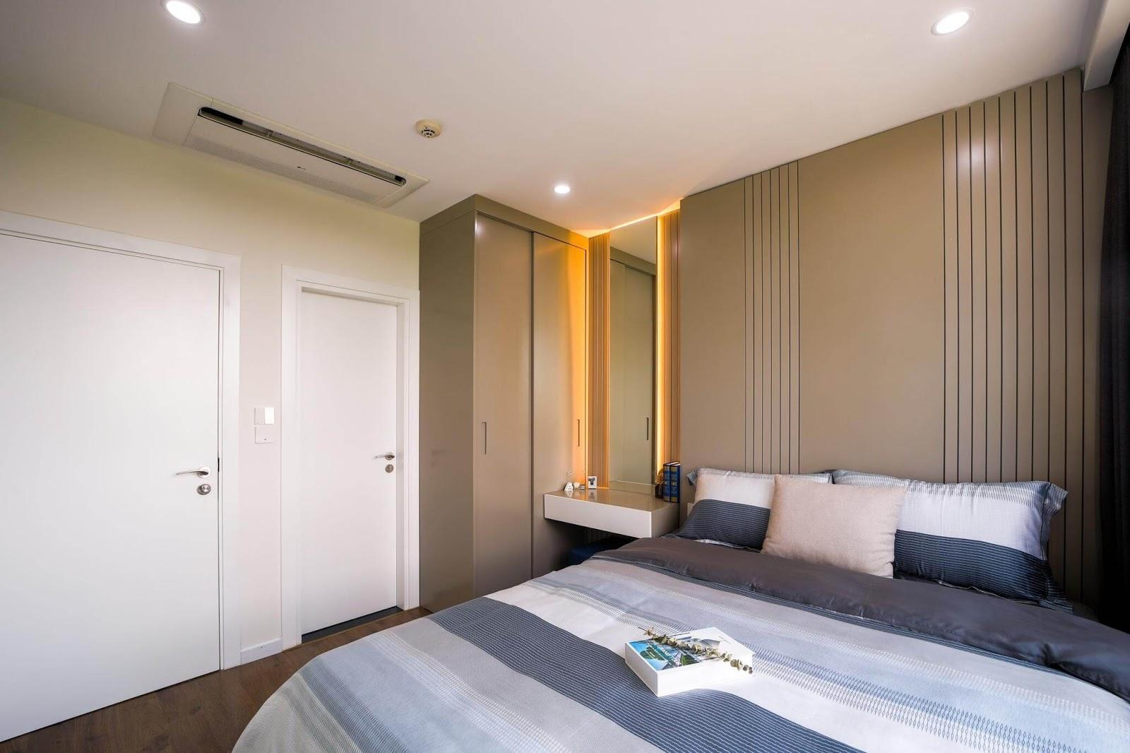 Góc nội thất trong phòng ngủ căn hộ An Quý Hưng.