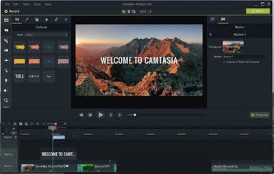 Camtasia Studio 9 editing software
