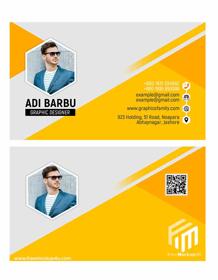 Yellow Business Visiting Card Design